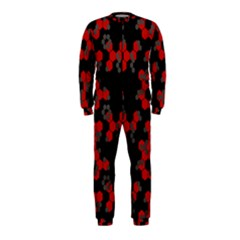Red Digital Camo Wallpaper Red Camouflage Onepiece Jumpsuit (kids)