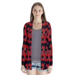 Red Digital Camo Wallpaper Red Camouflage Cardigans by Alisyart