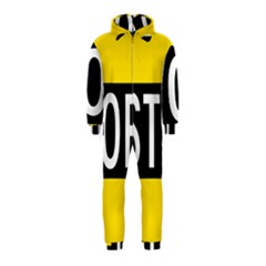 Road Sign Stop Hooded Jumpsuit (kids)