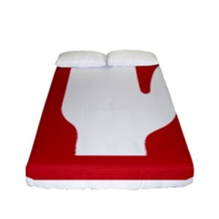 Road Sign Stop Hand Finger Fitted Sheet (full/ Double Size)