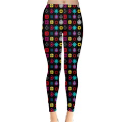 N Pattern Holiday Gift Star Snow Classic Winter Leggings
