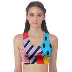 Sally s Patchwork Pattern Sports Bra by Alisyart