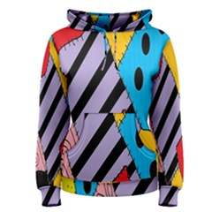 Sally s Patchwork Pattern Women s Pullover Hoodie