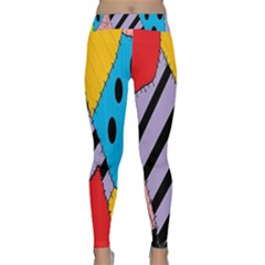 Sally s Patchwork Pattern Classic Yoga Leggings by Alisyart
