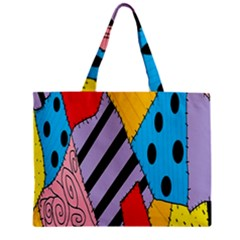Sally s Patchwork Pattern Zipper Mini Tote Bag by Alisyart