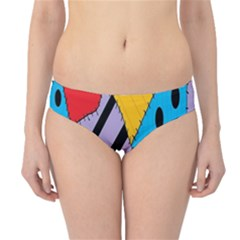 Sally s Patchwork Pattern Hipster Bikini Bottoms