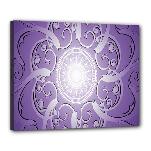 Purple Background With Artwork Canvas 20  X 16