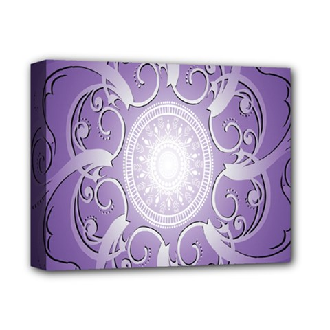 Purple Background With Artwork Deluxe Canvas 14  X 11