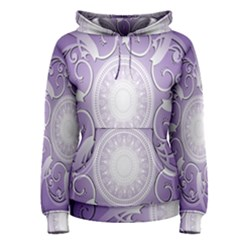Purple Background With Artwork Women s Pullover Hoodie