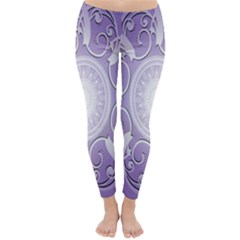 Purple Background With Artwork Classic Winter Leggings