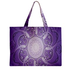 Purple Background With Artwork Zipper Mini Tote Bag by Alisyart