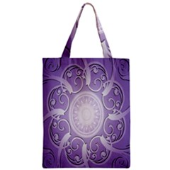 Purple Background With Artwork Zipper Classic Tote Bag by Alisyart