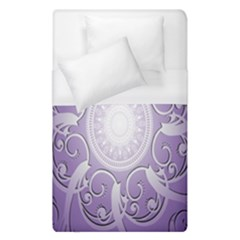 Purple Background With Artwork Duvet Cover (single Size)
