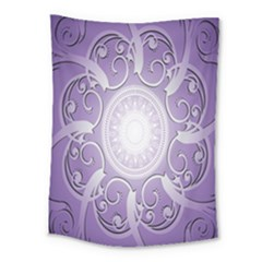 Purple Background With Artwork Medium Tapestry