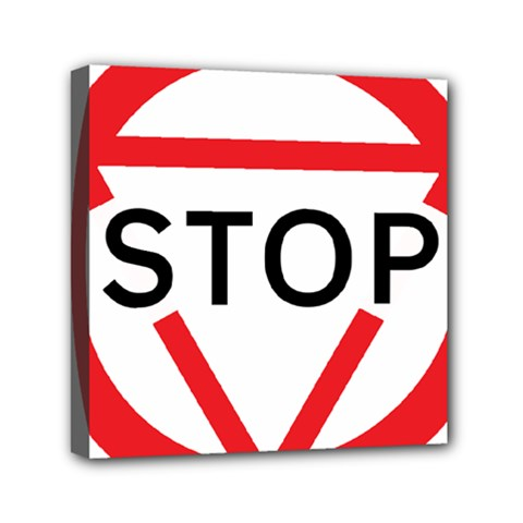 Stop Sign Mini Canvas 6  X 6
