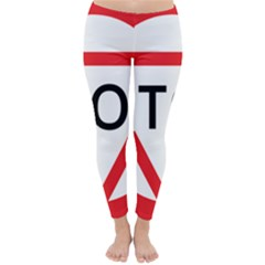 Stop Sign Classic Winter Leggings