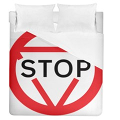 Stop Sign Duvet Cover (queen Size) by Alisyart