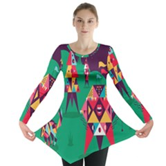 Studio Crafts Unique Visual  Projects Long Sleeve Tunic