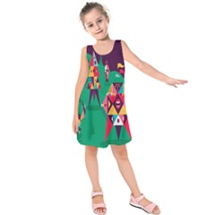 Studio Crafts Unique Visual  Projects Kids  Sleeveless Dress by Alisyart