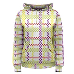 Webbing Plaid Color Women s Pullover Hoodie