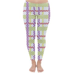 Webbing Plaid Color Classic Winter Leggings