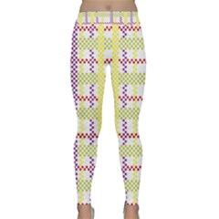 Webbing Plaid Color Classic Yoga Leggings