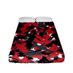 Spot Camuflase Red Black Fitted Sheet (full/ Double Size)