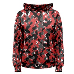 Spot Camuflase Red Black Women s Pullover Hoodie