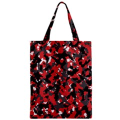 Spot Camuflase Red Black Zipper Classic Tote Bag by Alisyart