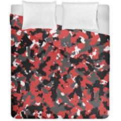 Spot Camuflase Red Black Duvet Cover Double Side (california King Size) by Alisyart