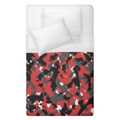 Spot Camuflase Red Black Duvet Cover (single Size) by Alisyart