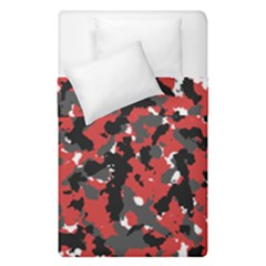 Spot Camuflase Red Black Duvet Cover Double Side (single Size)