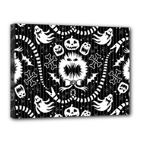 Wrapping Paper Nightmare Monster Sinister Helloween Ghost Canvas 16  X 12