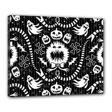 Wrapping Paper Nightmare Monster Sinister Helloween Ghost Canvas 20  X 16