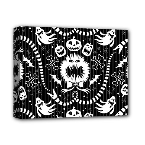 Wrapping Paper Nightmare Monster Sinister Helloween Ghost Deluxe Canvas 14  X 11  by Alisyart