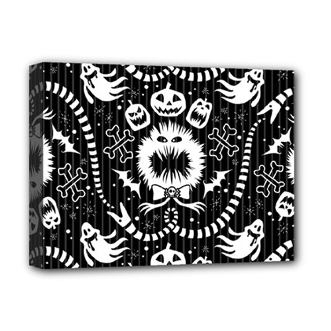 Wrapping Paper Nightmare Monster Sinister Helloween Ghost Deluxe Canvas 16  X 12   by Alisyart