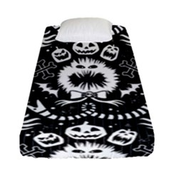 Wrapping Paper Nightmare Monster Sinister Helloween Ghost Fitted Sheet (single Size) by Alisyart