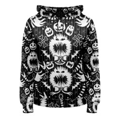 Wrapping Paper Nightmare Monster Sinister Helloween Ghost Women s Pullover Hoodie