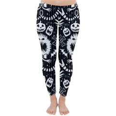 Wrapping Paper Nightmare Monster Sinister Helloween Ghost Classic Winter Leggings