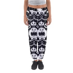 Wrapping Paper Nightmare Monster Sinister Helloween Ghost Women s Jogger Sweatpants