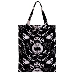 Wrapping Paper Nightmare Monster Sinister Helloween Ghost Zipper Classic Tote Bag by Alisyart