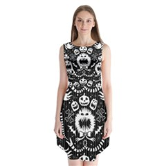 Wrapping Paper Nightmare Monster Sinister Helloween Ghost Sleeveless Chiffon Dress   by Alisyart