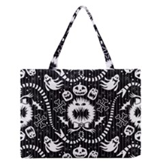 Wrapping Paper Nightmare Monster Sinister Helloween Ghost Medium Zipper Tote Bag by Alisyart