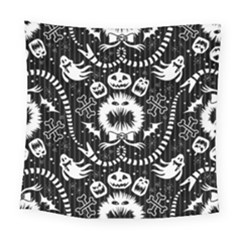 Wrapping Paper Nightmare Monster Sinister Helloween Ghost Square Tapestry (large)