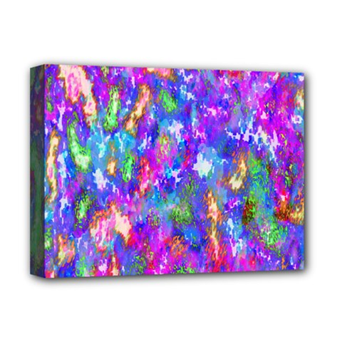Abstract Trippy Bright Sky Space Deluxe Canvas 16  X 12