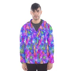 Abstract Trippy Bright Sky Space Hooded Wind Breaker (men)