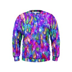 Abstract Trippy Bright Sky Space Kids  Sweatshirt