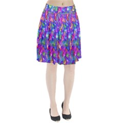 Abstract Trippy Bright Sky Space Pleated Skirt