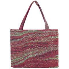 Scaly Pattern Colour Green Pink Mini Tote Bag