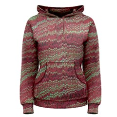 Scaly Pattern Colour Green Pink Women s Pullover Hoodie
